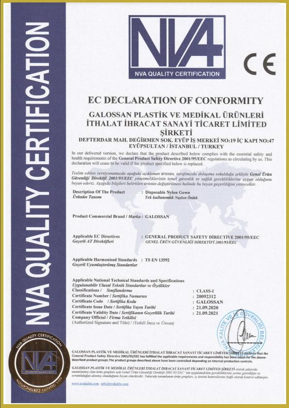 naylon onluk sertifika - Belgelerimiz