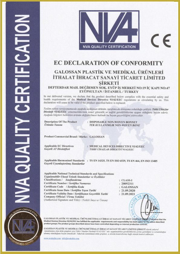 tela bone sertifika - Belgelerimiz